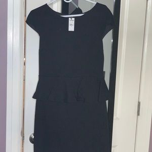 Express peplum style dress with lace detail